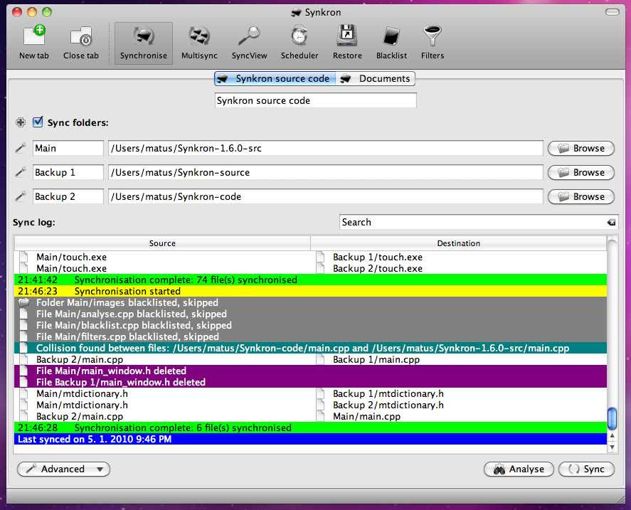 Synkron for Mac 1.6.2 full